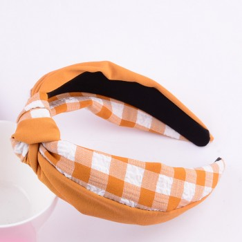 Pretty Plaid Cross Hairband for Women