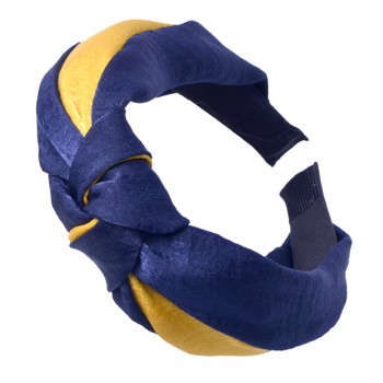 Color Block Knot Hairband for Women