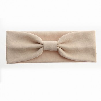 Trendy Solid Bow Decor Cosmetic Wide Headband for Women