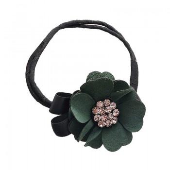 1-piece 3D Stud Flower Elastic Hair Tie