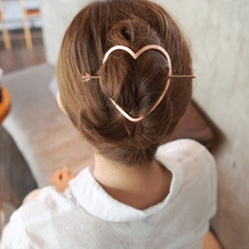 Beautiful Solid Heart / Star Design Hair Pin Set for Women