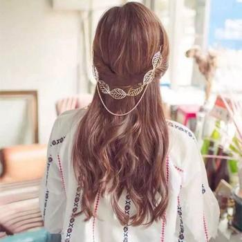 Pretty Leaf Decor Chain Hairpin for Women