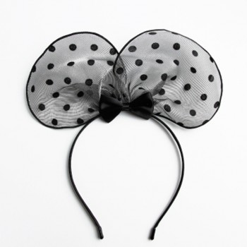 Beautiful Lace Dotted Ear Design Hairband for Women