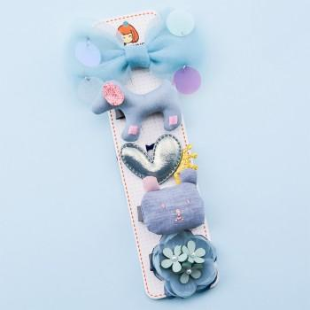 5-piece Cute Sweet Flower Bowknot and Animal Pattern Hairpin Set