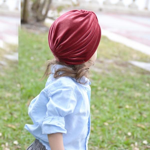 Creative Solid Tie-up Pleuche Hat for Toddler and Kid