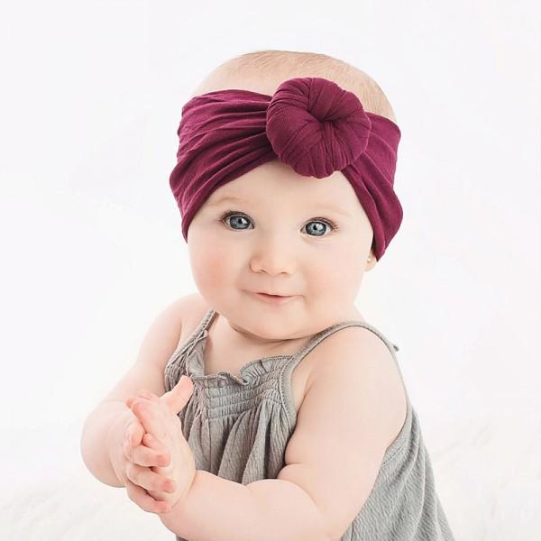Cute Solid Ball Decor Headband for Baby and Toddler Girl
