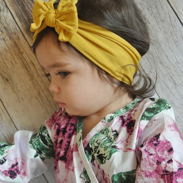 Cute Solid Bow Decor Headband for Baby and Toddler Girl