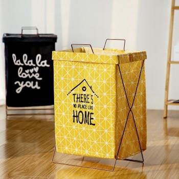 Trendy Foldable Letter Print Laundry Basket