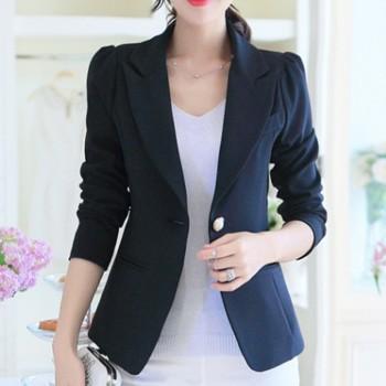 Women's Trendy Solid OL Lapel Blazer