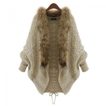 Stylish Solid Loose Knitted Cardigan