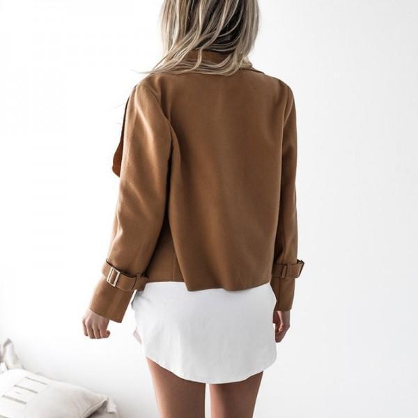 Trendy Asymmetric Long-sleeve Outerwear