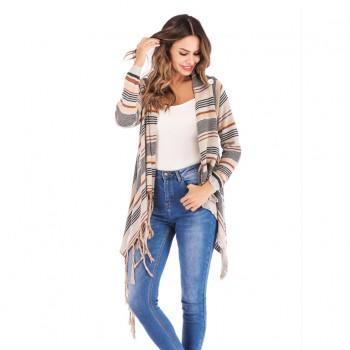 Trendy Tassel Long-sleeve Cardigan