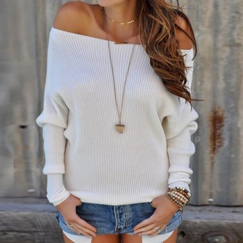Sassy Off Shoulder Knitted Sweater