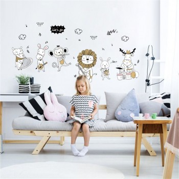 Vibrant Animal Concert Design Wall Sticker