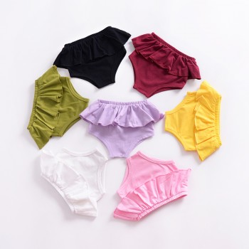 Sweet Solid Ruffled Pantie for Baby Girl