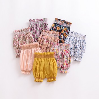 Trendy High-waist Stringy Selvedge Bloomers for Baby and Toddler Girl
