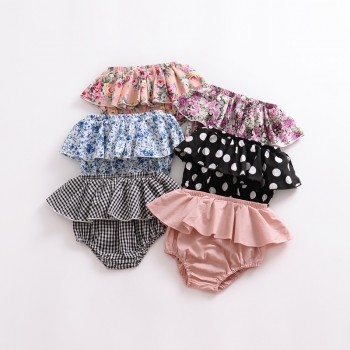 Stylish Printed Ruffle Shorts for Baby and Toddler Girl