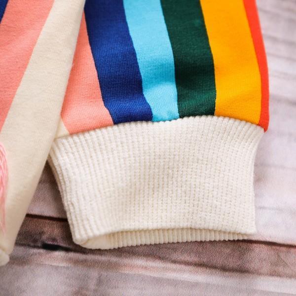 Pretty Rainbow Print Long-sleeve Tee for Toddler Girl and Girl