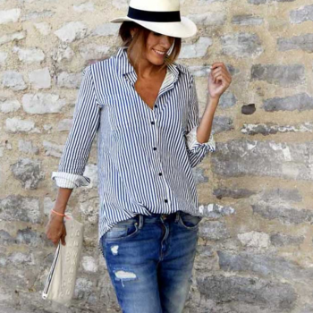Pretty Striped Long-sleeve Shirt