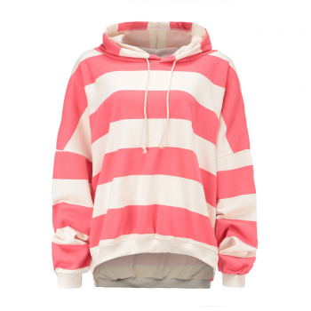 Fashionable Contrast Stripe Hoodie