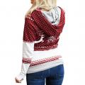 Stylish Christmas Print Long-sleeve Hoodie