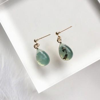 1-pair Amber Drop Earrings