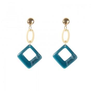 1-pair Vintage Oval Square Drop Earrings