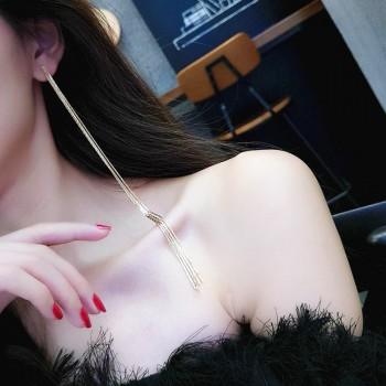 1-pair Charming Long Linear Earrings