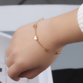 Trendy Solid Heart / Star Decor Chain Bracelet