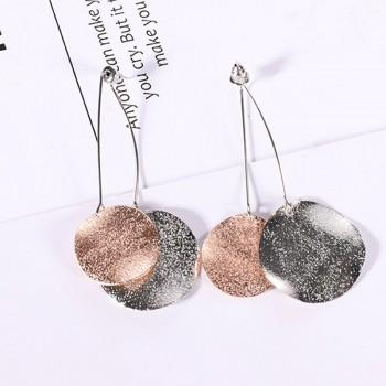 Beautiful Frosted Wafer Shaped Earrings