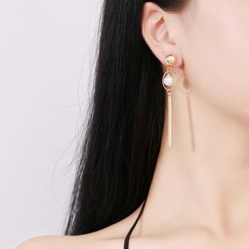 Trendy Pearl Linear Earrings