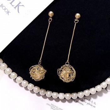 Beautiful Pearl Linear Earrings