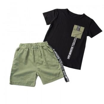 2-piece Cool Short-sleeve Tee and Shorts Set for Boy