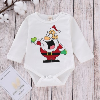 Festival Santa Print Long-sleeve Bodysuit for Baby