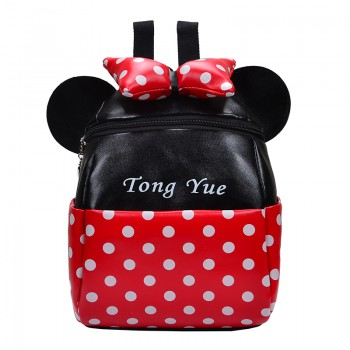 Cute Dotted Ear Decor Backpack for Baby and Toddler Girl