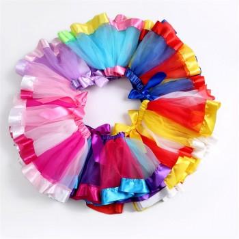 Lovely Rainbow Bowknot Decor Tutu Skirt for Toddler Girls