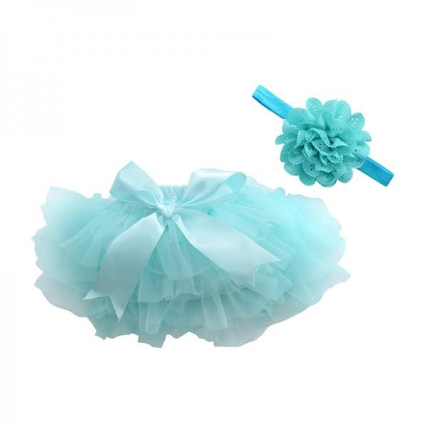 Lovely Solid Tutu Skirt and Headband for Baby Girl