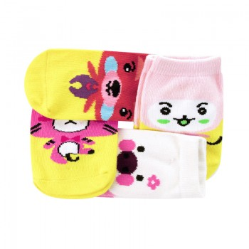 4-pack Cute Animal Pattern Socks for 3-4 Years Toddler