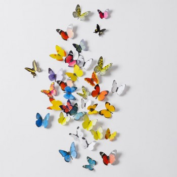 19 Piece 3D Pretty Butterfly Wall Stickers