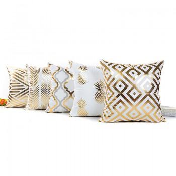 Golden Print Cushion Pillowcase