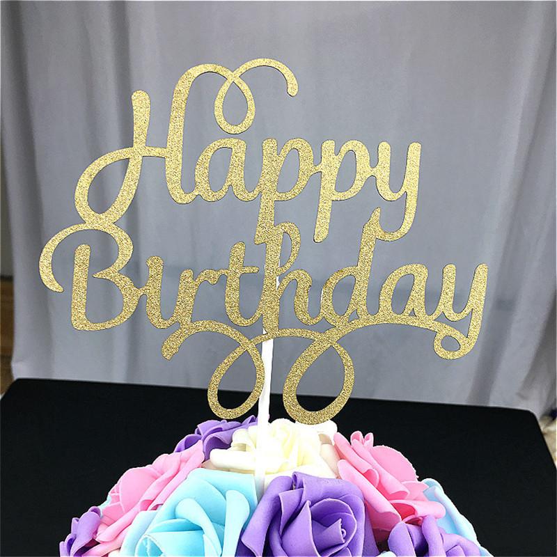 1 Piece Unique Happy Birthday Cake Topper Patpat