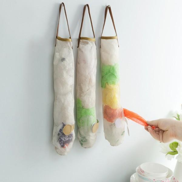 1 Pc Creative Mesh Hanging Storage Bag