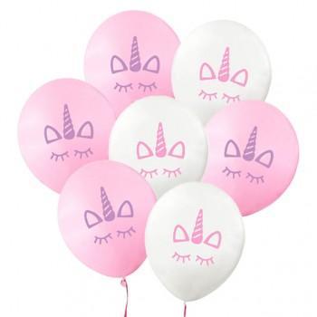 10-pack Cute Unicorn Print Balloons
