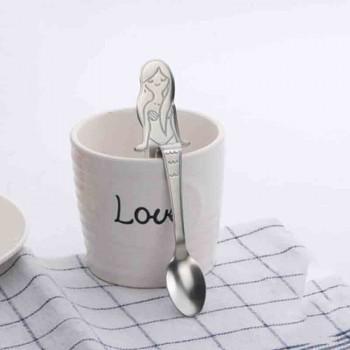 1 Pc Cartoon Mermaid Handle Coffee Milk Mixing Spoon
