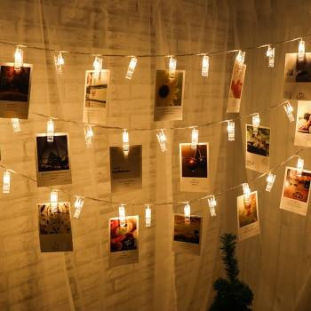 20-piece Stylish Photo Clips LED Light String Wall Decoration