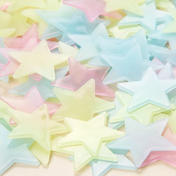 100-piece Luminous Star Wall Sticker