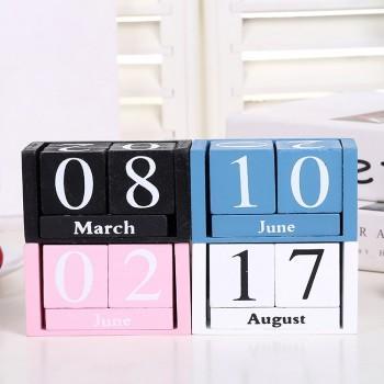 1-piece Creative Wood Calendar Desktop Decor