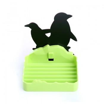 Cute Penguin Design Detachable Mounted Storage Rack
