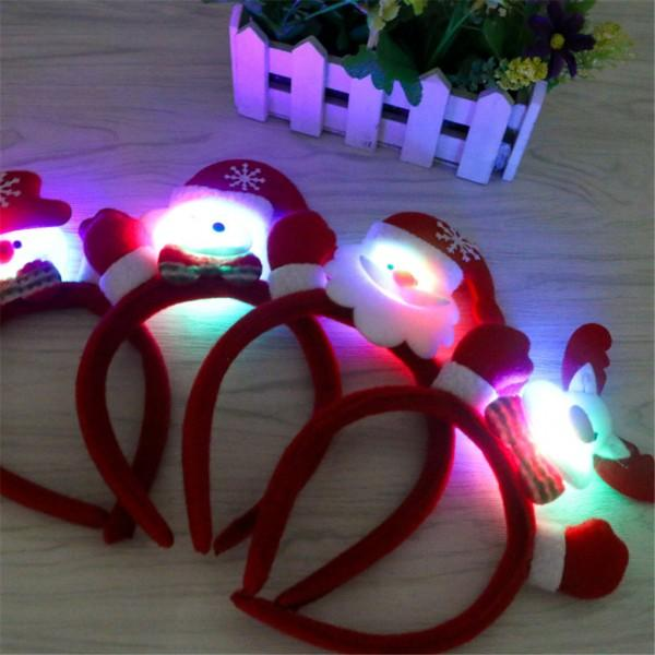 Cute Santa LED Headband Christmas Decor