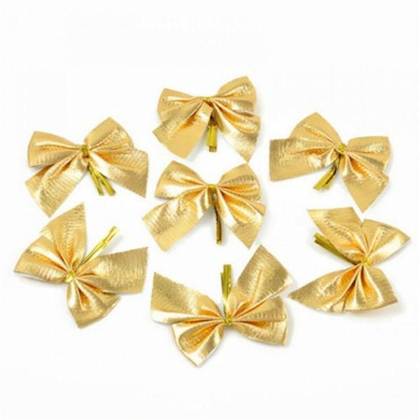 12-piece Bow Design Christmas Tree Decor
